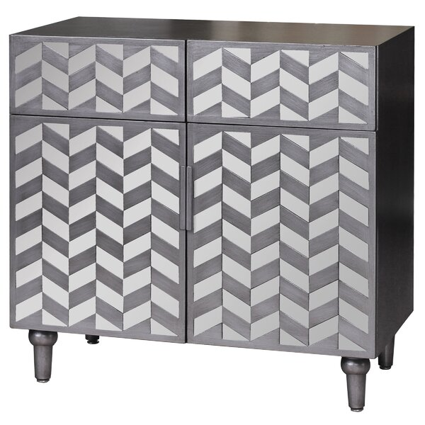 Leticia 2 Door 2 Drawer Accent Cabinet by Rosdorf Park