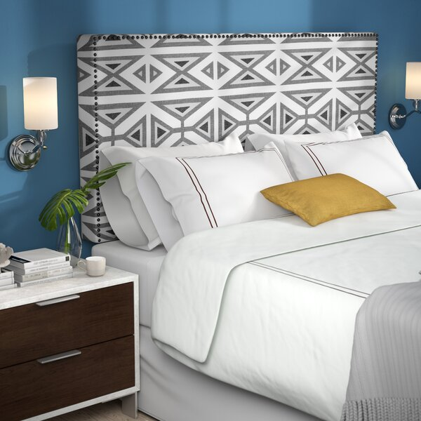 Kaylyn Nail Button Border Upholstered Panel Headboard by Brayden Studio