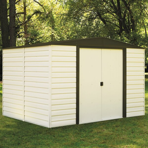 Dallas 10 ft. 3 in. W x 7 ft. 11 in. D Metal Storage Shed by Arrow