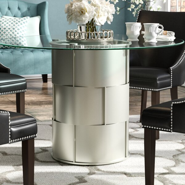 Cliburn Drum Dining Table by House of Hampton