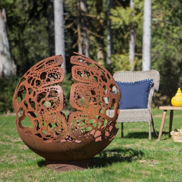 Coral Dome Steel Fire Pit by Cedar Creek Sculptures