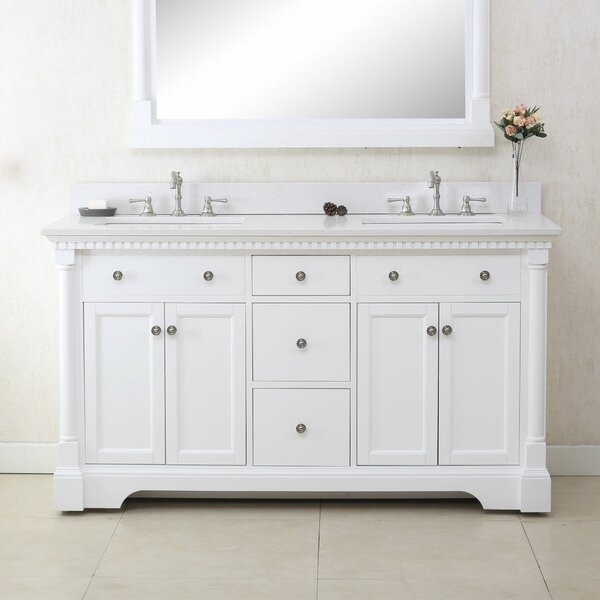Perrytown 60 Double Bathroom Vanity Set by Charlton Home