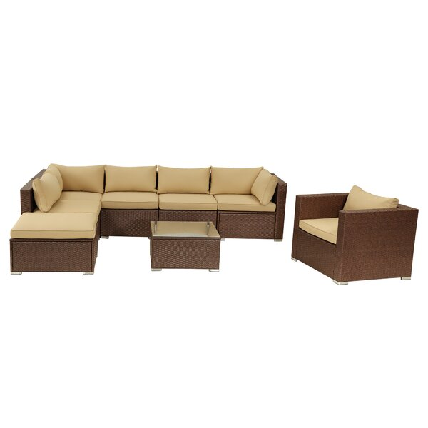 Annacatherine 8 Piece Rattan Sectional Seating Group