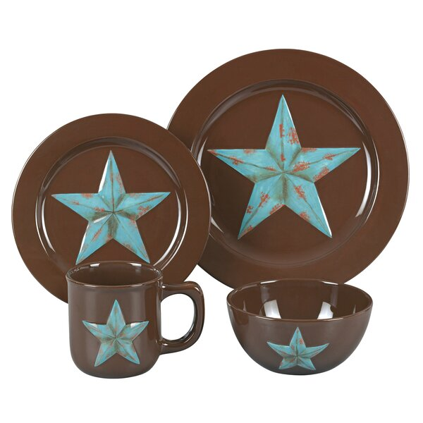 Alexis Star 16 Piece Dinnerware Set, Service for 4 by Loon Peak