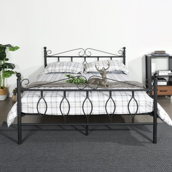 Bealeton Metal Queen Platform Bed by Red Barrel Studio