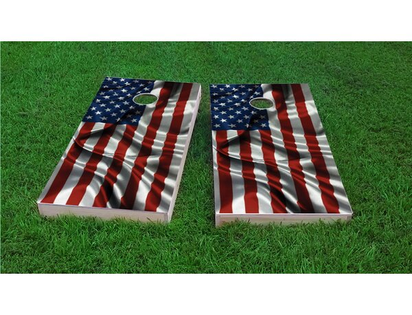 American Flag Cornhole Game Set by Custom Cornhole Boards