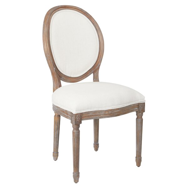Haleigh Oval Back Upholstered Dining Chair by Ophelia & Co.
