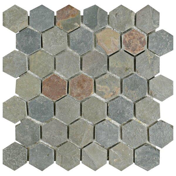 Peak Hexagon 1.88 x 1.88 Slate Mosaic Tile in Gray by EliteTile