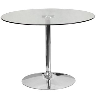 Ordinaire Cavell Round Glass Dining Table