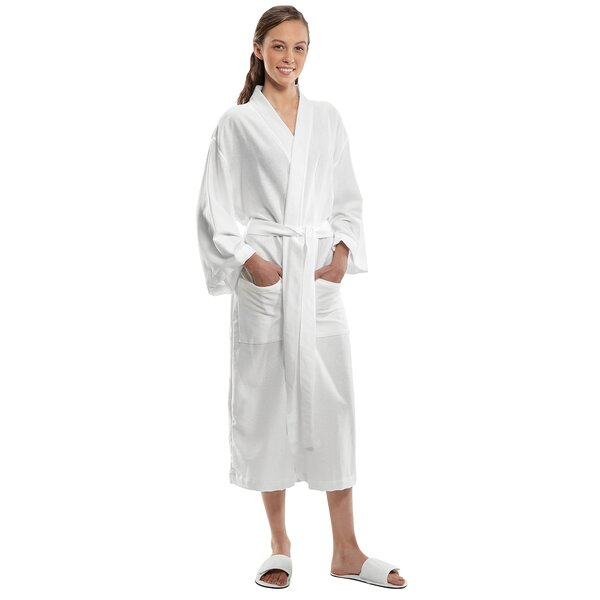 Piedmonte Kimono Cotton Blend Bathrobe by Winston Porter