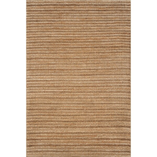 Strong Hand Woven Jute Natural Area Rug by Bay Isle Home