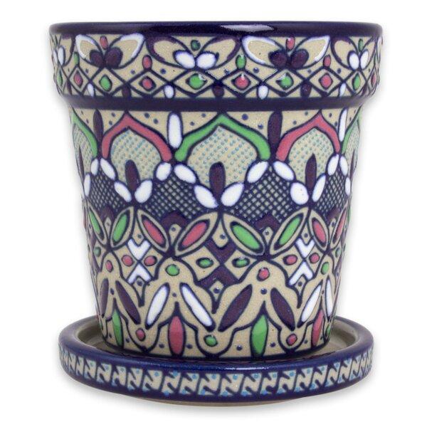 Flowers in Celaya Ceramic Flower Pot Planter by Novica