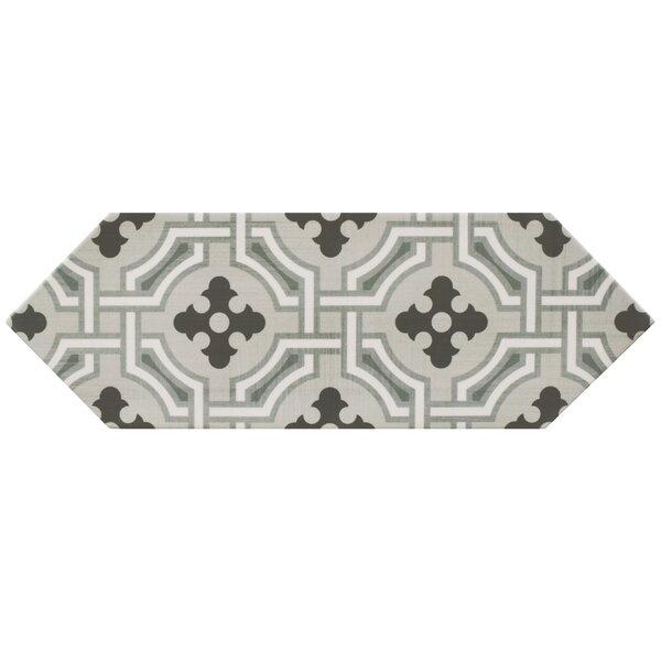 Volant 4 x 11.75 Porcelain Field Tile in Gray/Black by EliteTile
