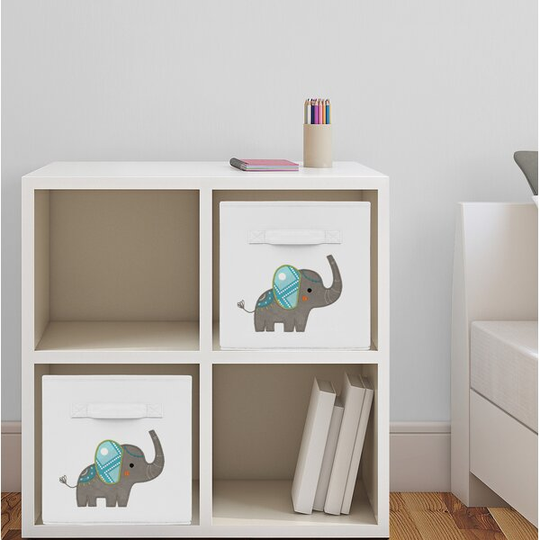 Elephant Fabric Storage Cube by Sweet Jojo Designs