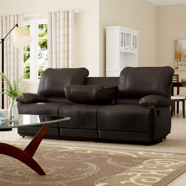 Best #1 Edgar Double Reclining Sofa By Andover Mills New