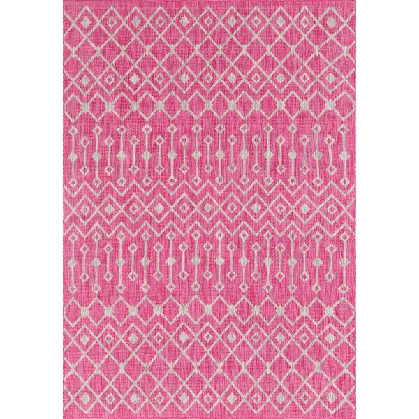 Avah Pink/Gray Indoor/Outdoor Area Rug by Gracie Oaks