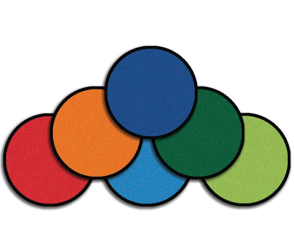 Value Plus Mini Go Round Area Rug (Set of 12) by Carpets for Kids
