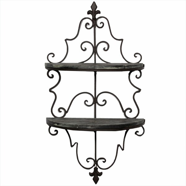 Chesney Metal and Wooden Wall Shelf by Darby Home Co