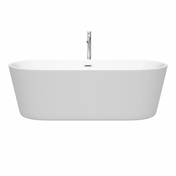Carissa 71 x 32 Freestanding Soaking Bathtub by Wyndham Collection
