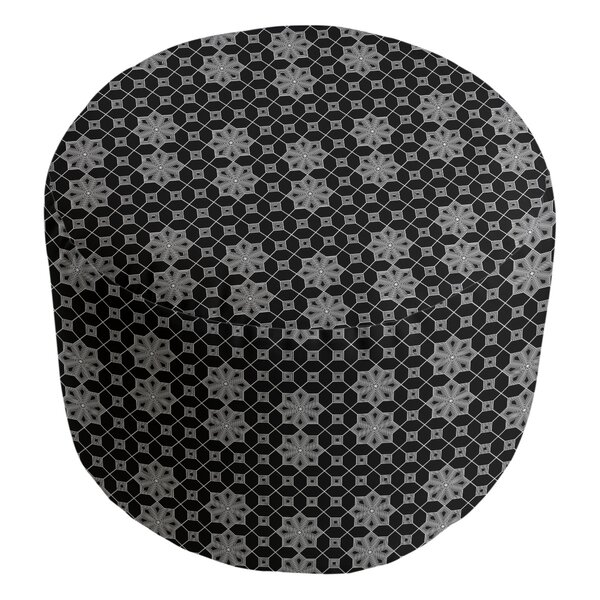 Leffel Lattice Cube Ottoman by Ebern Designs