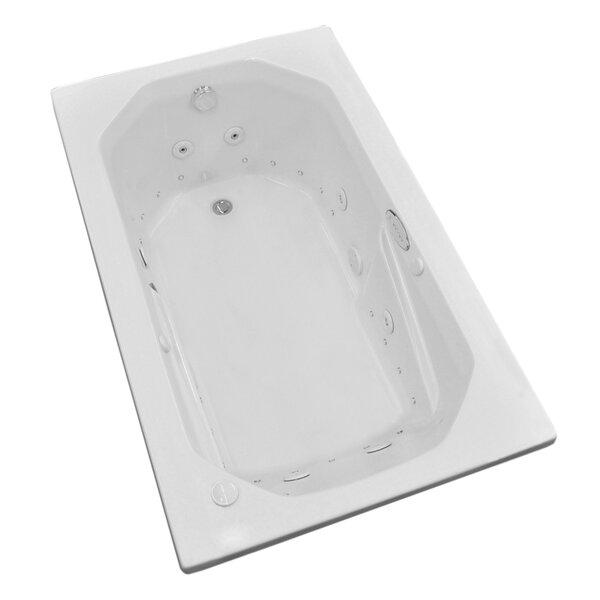 Montserrat Dream Suite 59.75 x 35.5 Rectangular Air & Whirlpool Jetted Bathtub by Spa Escapes