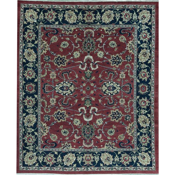 Sultanabad Oriental Hand-Knotted Wool Red Area Rug