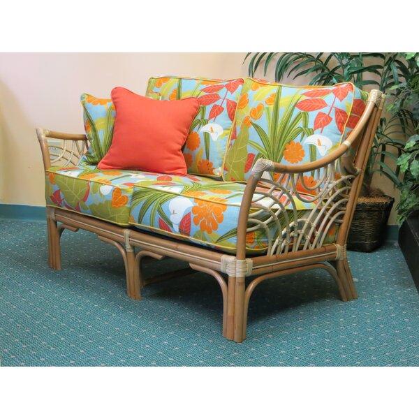 Rainey Cushion Back Loveseat by Bayou Breeze