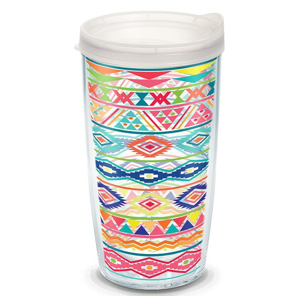 On Trend Bright Aztec Plastic Travel Tumbler by Tervis Tumbler