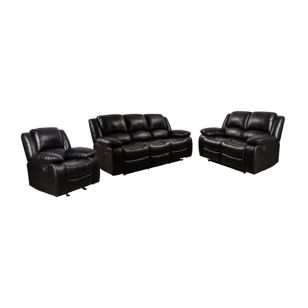 Herdon 3 Piece Reclining Living Room Set by Latitude Run