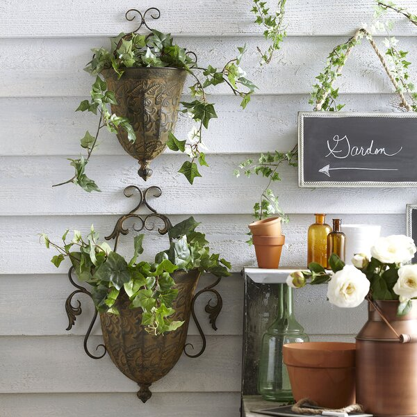 Metal Wall Planter Set (Set of 2) by Birch Lane™