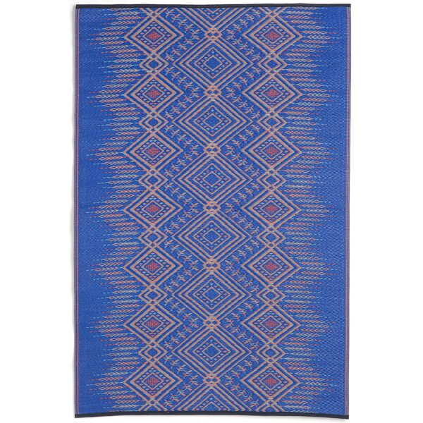 Bea Blue/Beige Indoor/Outdoor Area Rug by Bungalow Rose