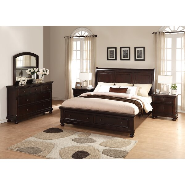 Brishland King Platform 5 Piece Bedroom Set by Roundhill Furniture