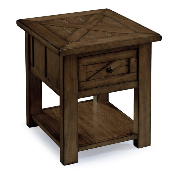 Michigan City End Table by August Grove