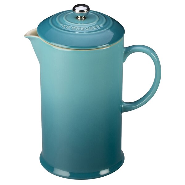 3.37 Cup Stoneware French Press Coffee Maker by Le Creuset
