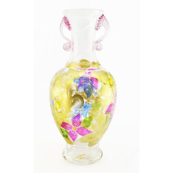 Hand Blown Vase by Three Star Im/Ex Inc.