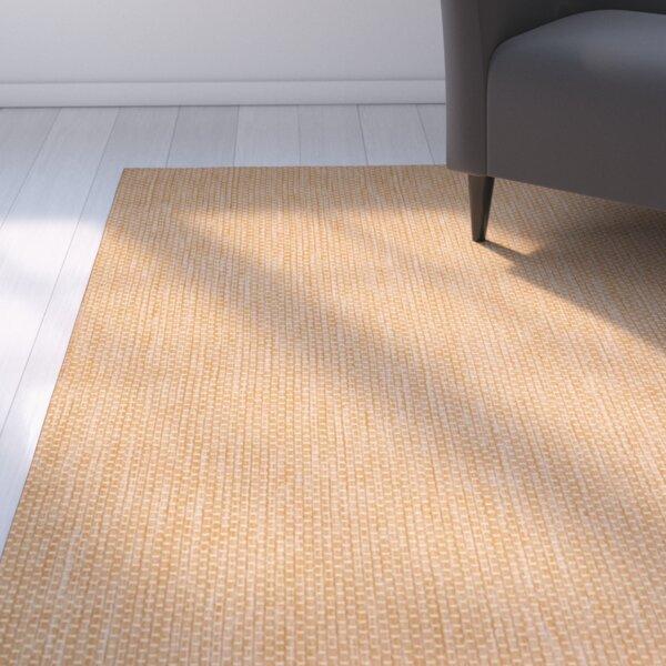 Mullen Solid Natural/Cream Indoor/Outdoor Area Rug by Ebern Designs