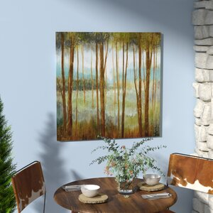 'Soft Forest I' Oil Painting Print on Wrapped Canvas by Loon Peak