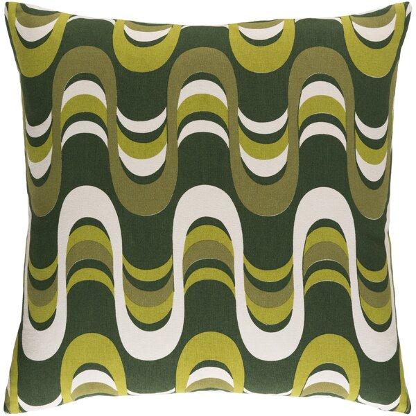 Arsdale Wave Cotton Throw Pillow by Langley Street