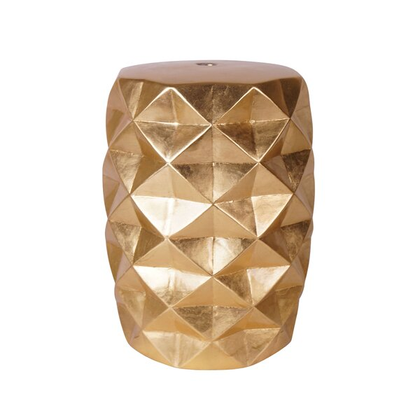Jadiel Ceramic Garden Stool by Everly Quinn