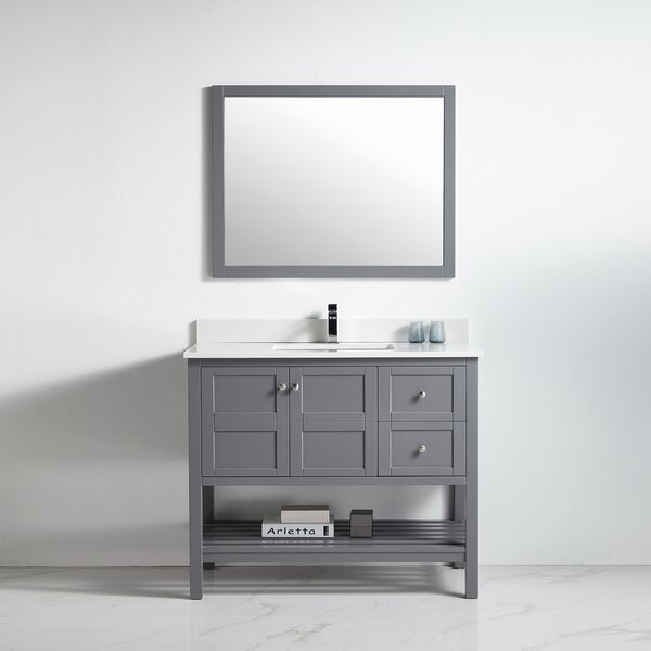 Creevery 42 Single Bathroom Vanity Set with Mirror