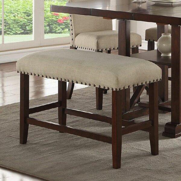 Amelie II Wood Bench by Infini Furnishings Infini Furnishings