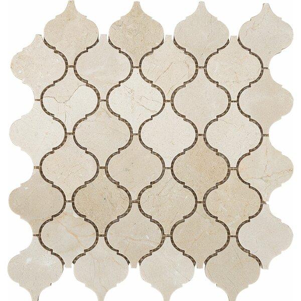 Santa Maria Crema Marfil Stone Mosaic Tile Polished by Parvatile