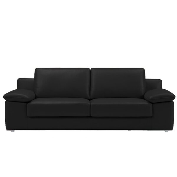 Modern Collection Alexandra Leather Loveseat by Bellini Modern Living by Bellini Modern Living