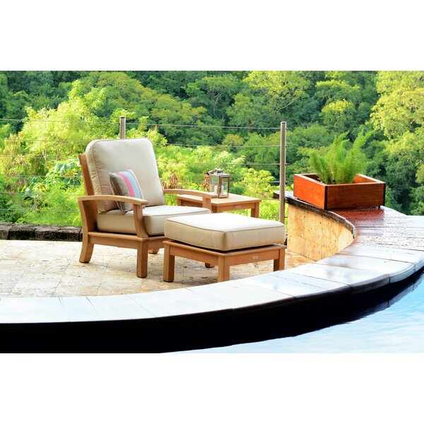 Monterey Teak Patio Chair with Sunbrella Cushions by Three Birds Casual