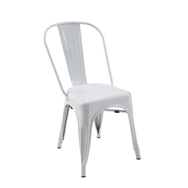 Alta Mesa Metal Stacking Slat Back Side Chair (Set of 4) by Trent Austin Design Trent Austin Design