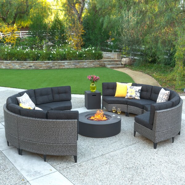 Yulganna 10 Piece Sectional Seating Group with Cushions by Brayden Studio