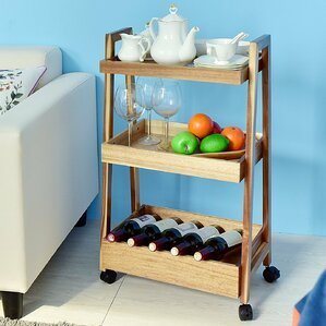 Roseann 3-Tier Rolling Bar Cart by Winston Porter