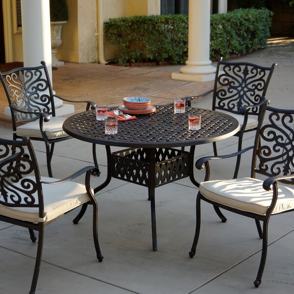 Archway 5 Piece Dining Set with Cushions by Astoria Grand Astoria Grand