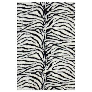 Danso Black/White Area Rug