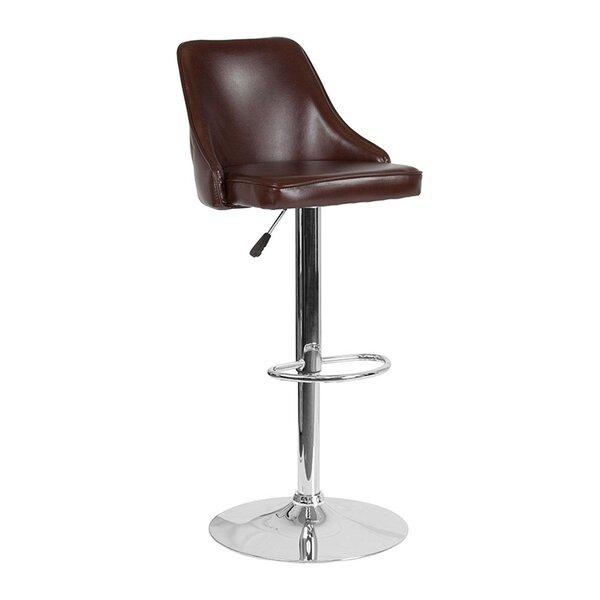 Nesbitt Adjustable Height Swivel Bar Stool by Wrought Studio